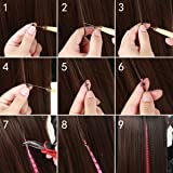"""Feather Hair Extensions Kit Synthetic 16"""" 100pcs"""