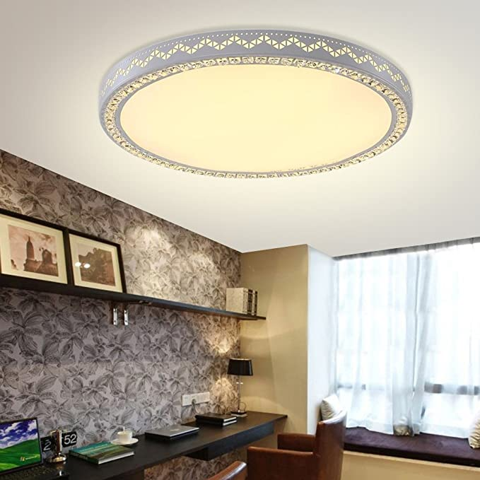 YESDA LED 60W Lampe Kristall Deckenleuchte Runden Wandlampe ...
