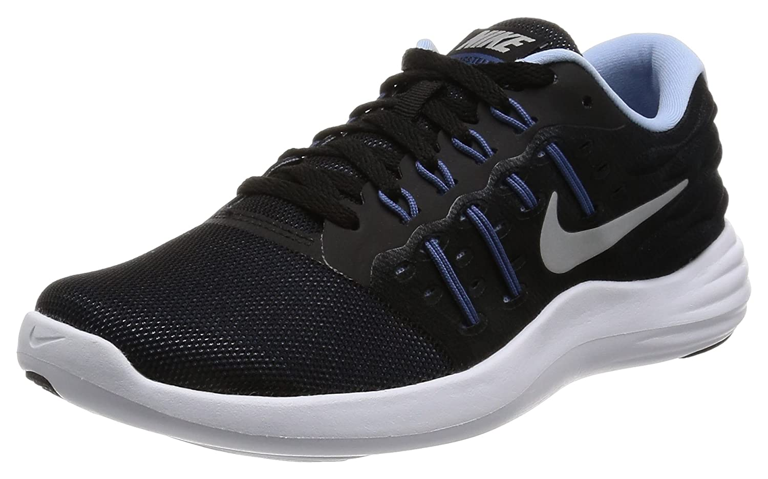 NIKE Women's Lunarstelos Running Shoe B008XZMI0O 7 M US|Blue Glow/Black/Gamma Blue/White