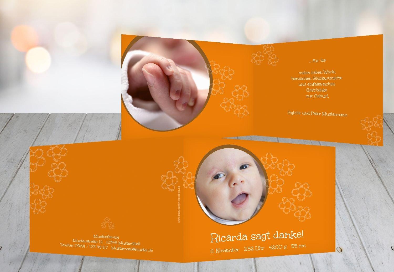 Kartenparadies Danksagung für Geburt Baby Dankeskarte Dankeskarte Dankeskarte Blüten, hochwertige Danksagungskarte Baby inklusive Umschläge   100 Karten - (Format  148x105 mm) Farbe  Hellbraun B01MRBYMZ9 | Haltbar  | Outlet Store Online  | Neueste Technologie  876f02