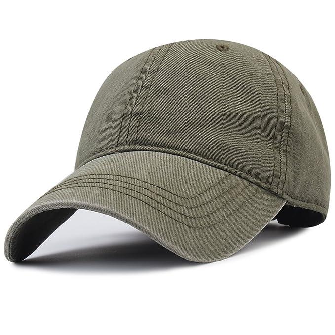 c4ec4fb78 FURTALK Ponytail Messy High Bun Hat Cotton Washed Twill Baseball Cap for  Women ArmyGreen