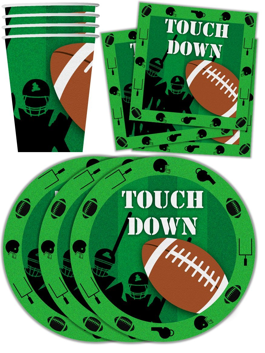 Football Game Day Birthday Party Supplies Set Plates Napkins Cups Tableware Kit for