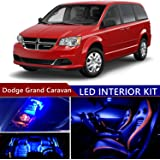 sky auto inc led premium blue light interior package kit for dodge grand  caravan 2008-
