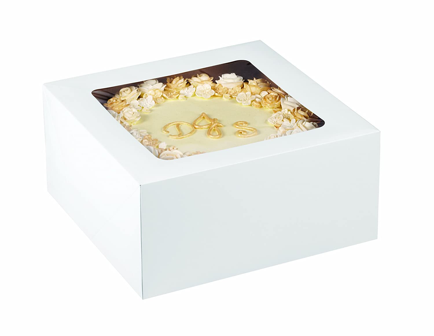 Amazon.com: Wilton 415-0966 2-Pack Corrugated Cake Box with Window, 19 by 14 by 4-Inch: Kitchen & Dining
