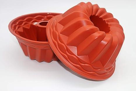 Molde de silicona para bizcocho Kugelhopf tamaño grande