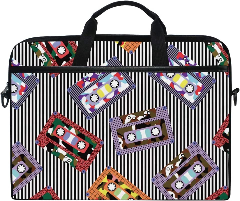 Cartoon Musical Instrument Seamless Pattern Shockproof Laptop Shoulder Messenger Bag Laptop Case Sleeve Business Handbag