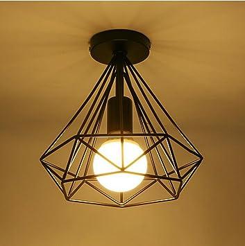 AMZH Lámparas modernas del techo del diamante del hierro ...