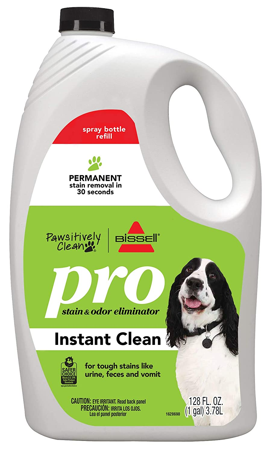 Bissell Pawsitively Clean Pro Pet Stain & Odor Eliminator Instant Clean Refill, 128oz, 2185