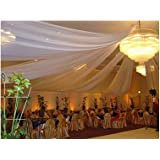 """Sheer Voile Chiffon Fabric Draping Panels 