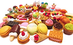 30 of Assorted FOOD CAKE DESSERT Japanese Erasers IWAKO (selected by Tokyo Japanese Outlet)