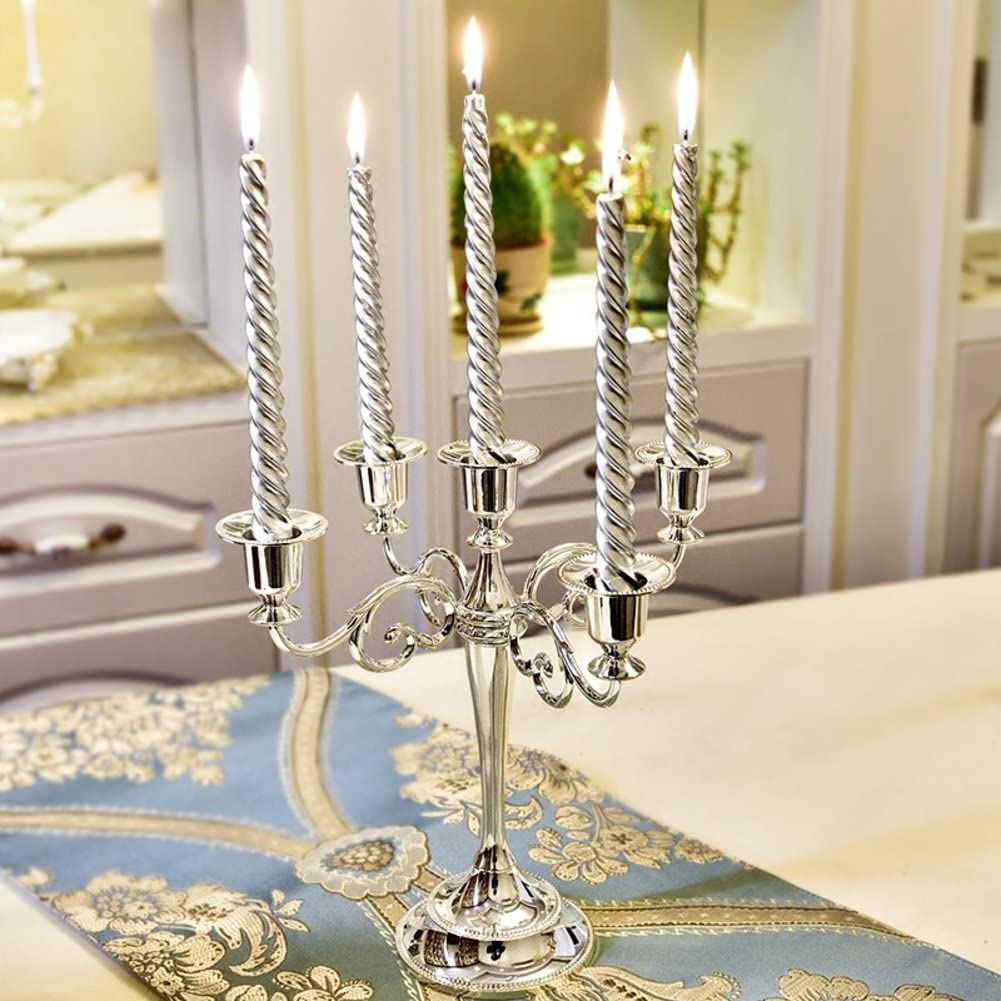For Weddings Home Party Spa Aromatherapy-bronzea 24x22.5cm 9x9inch Retro European Taper Candle Holder D/&LE 5-candle Metal Candelabra Candlestick