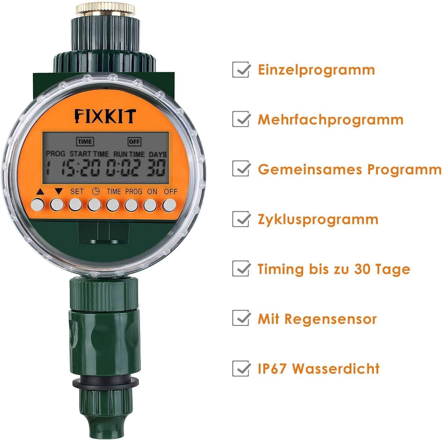 New Watering Clock Automatic Watering for Garden Plant Fixkit Electronic Water Timer Timer with LCD Display Digital Watering Controller
