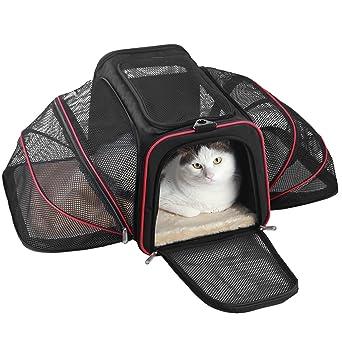 texsens mascotas bolsa Gato caja de transporte plegable Bolsa de transporte transpirable Auto Box Bolsa de