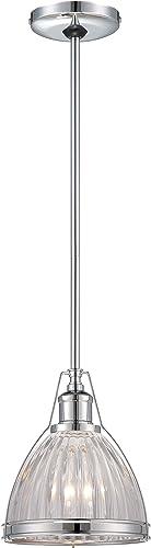 Minka Lavery 2242-77 Urban Industrial Mini Cone Pendant Ceiling Lighting, 1 Light, 100 Watt, Chrome