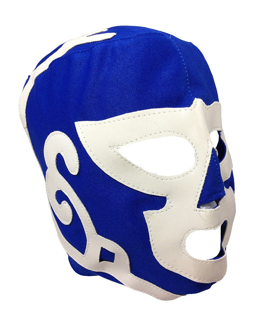 HURACAN RAMIREZ Youth Lucha Libre Wrestling Mask - KIDS Costume Wear - BLUE by Mask Maniac