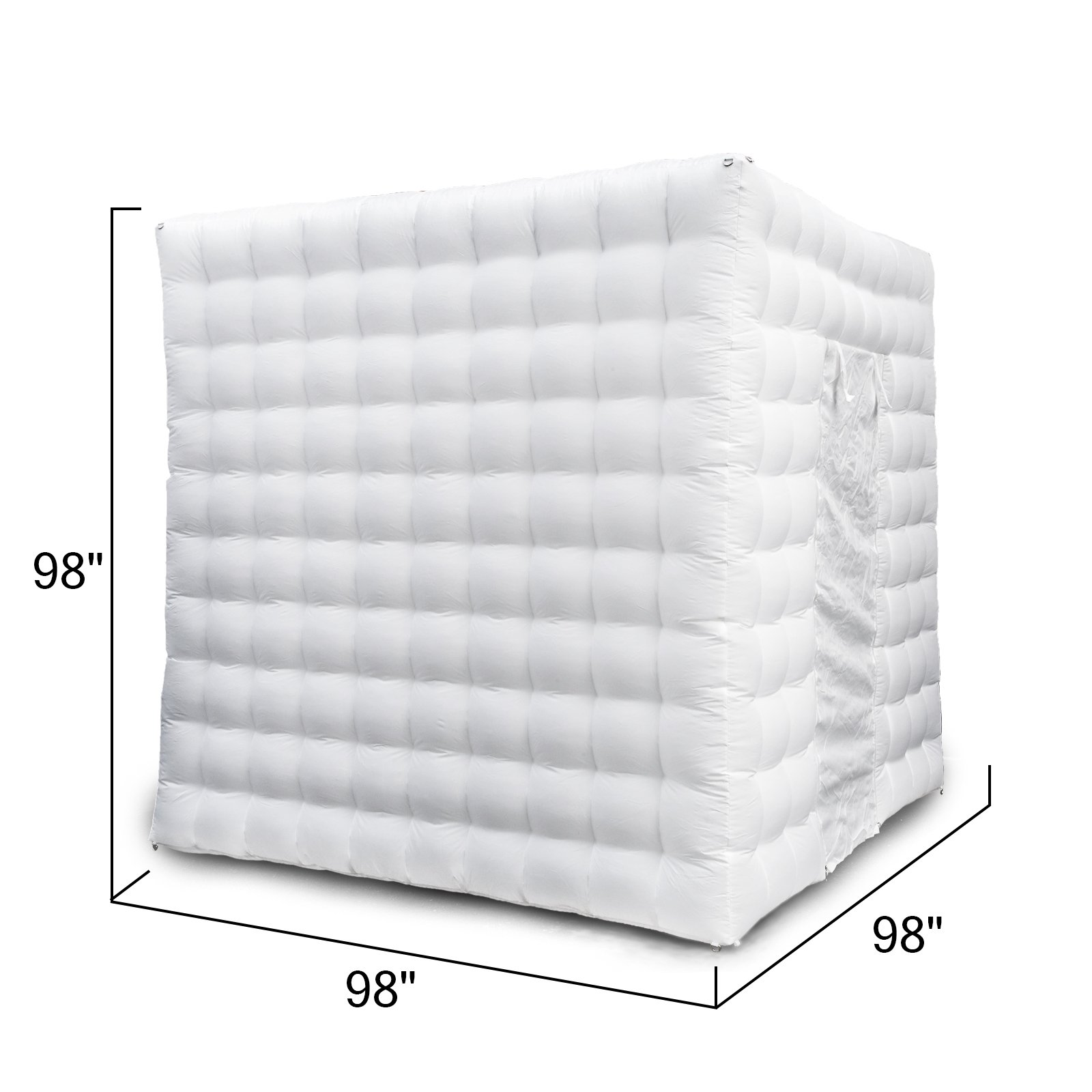 Happybuy 8.2X 8.2ft Inflatable Portable LED Lights Photo Booth 2 Doors W/Fan 110V US Plug by Happybuy (Image #3)