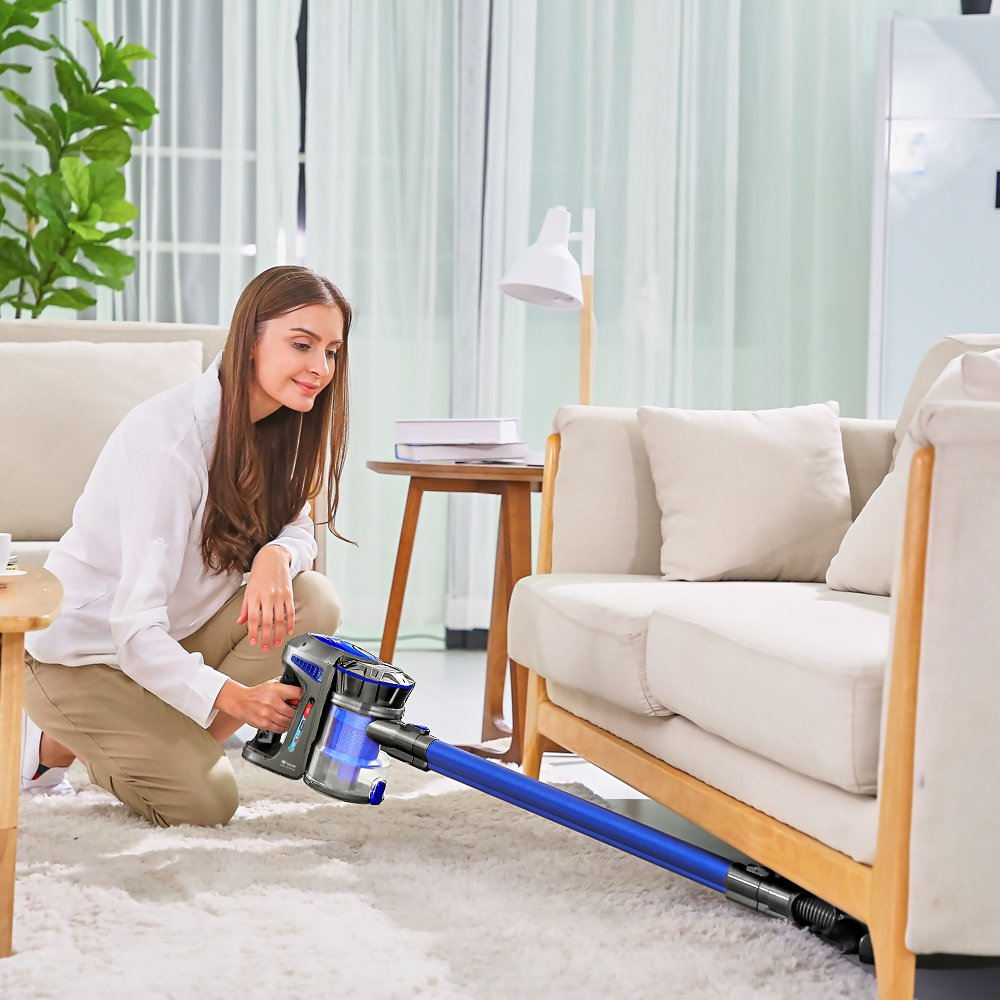 Proscenic P8 Vacuum Cleaner,Lightweight Stick Vacuum Cordless,Battery Rechargeable,Two Speeds Suction Power, Detachable Bagless Handheld Vacuum for Family and Car Cleaning by Proscenic (Image #4)
