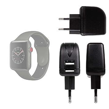Duragadget Chargeur Secteur de Voyage USB pour Montre connectée Apple iWatch 3ème série Nike+, Hermes