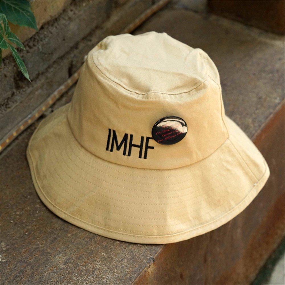 Vintage Moda Mujer Sombrero Sombrero pescador encantador Floppy Hat cuchara caliente Hat,caqui