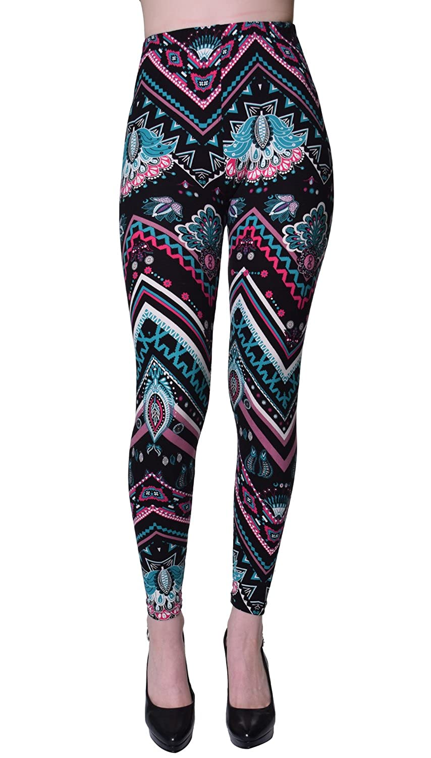 e48ccb71cf7ac VIV Collection Popular Printed Brushed Buttery Soft Leggings Regular Plus  40+ Designs List 1 at Amazon Women s Clothing store