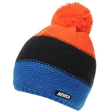 d8064671ce3 Nevica Mens Banff Beanie Ski Hat Knitted Pompom 3 Stripe  Amazon.co.uk   Clothing