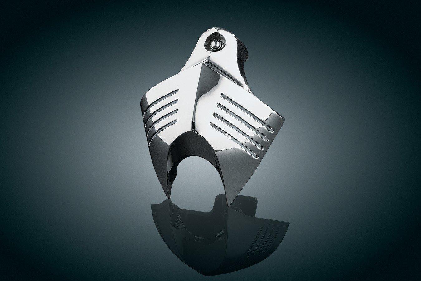 Kuryakyn 8128 V-Shield Horn Cover For Harley-Davidson (ZZ 2107-0013)