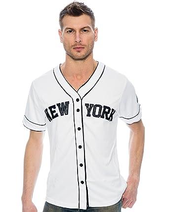 Amazon.com  True Rock Men s New York Baseball Jersey  Clothing 1812fe0e5