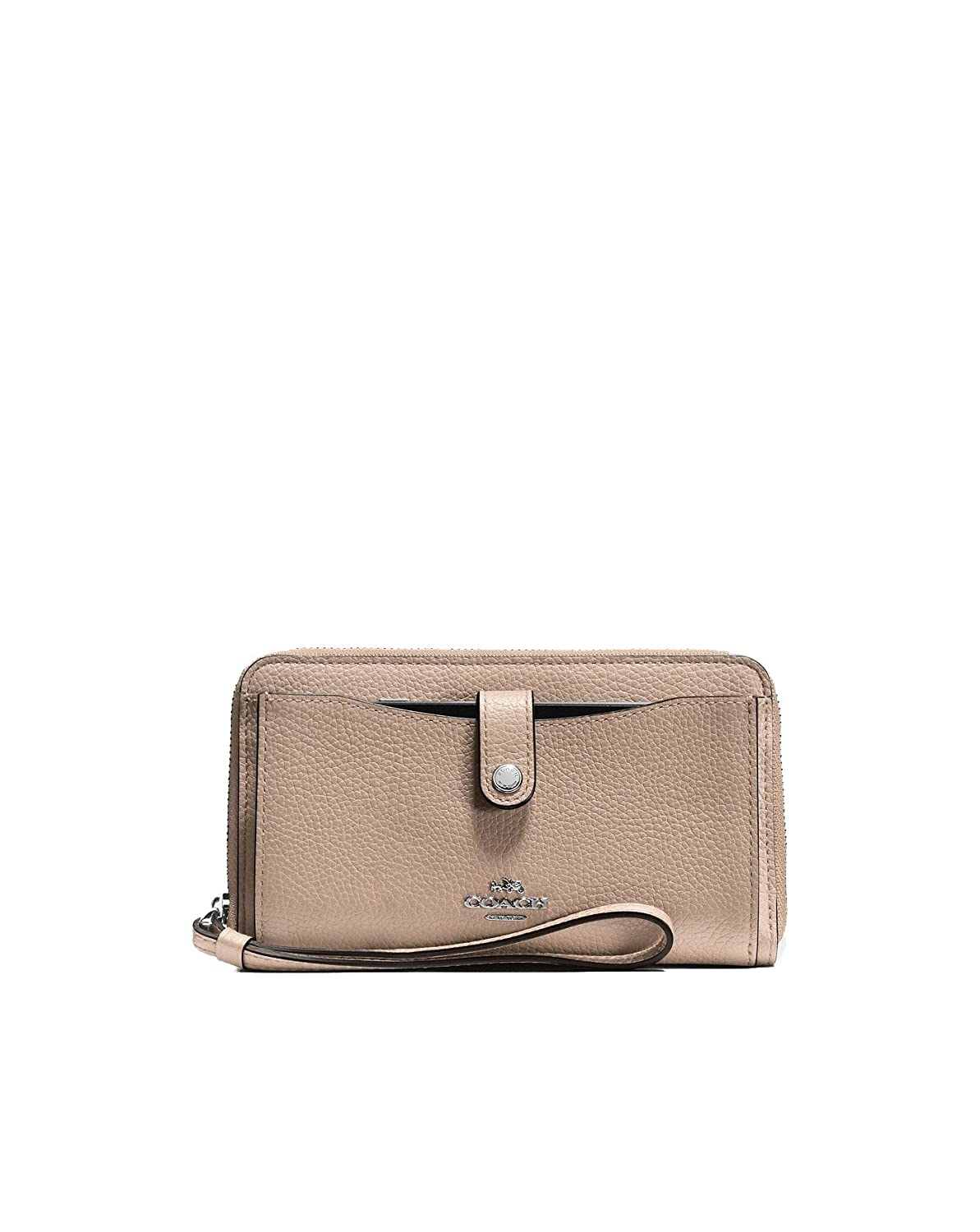 Coach - Cartera para mujer mujer beige Silver/Stone: Amazon ...