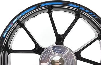 Impressiata Suzuki Gsx S 1000 Motorrad Felgenrandaufkleber Specialgp Blau Komplettset Aufkleber Sticker Auto