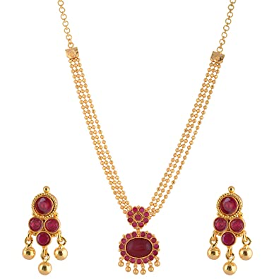 Ganapathy Gems Multi-Colour 1 Gram Gold Plated Necklace Set For Women  sc 1 st  Amazon.in & Buy Ganapathy Gems Multi-Colour 1 Gram Gold Plated Necklace Set For ...