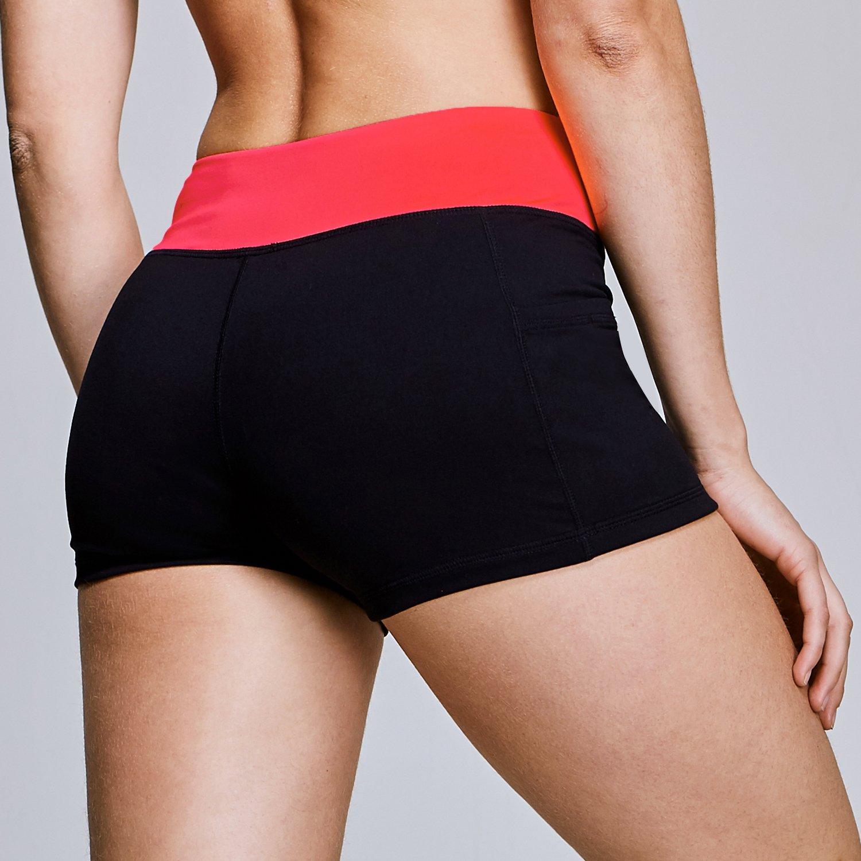 Matymats Women's Workout Running Shorts Tummy Control Active Yoga Shorts Big Side Pockets