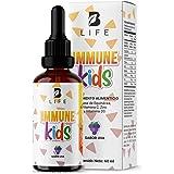 Suplemento Sistema Inmune liquido en gotas para niños a partir de 1 año con Vitamina C, D3, Zinc y Echinacea de 60 Tomas. Imm