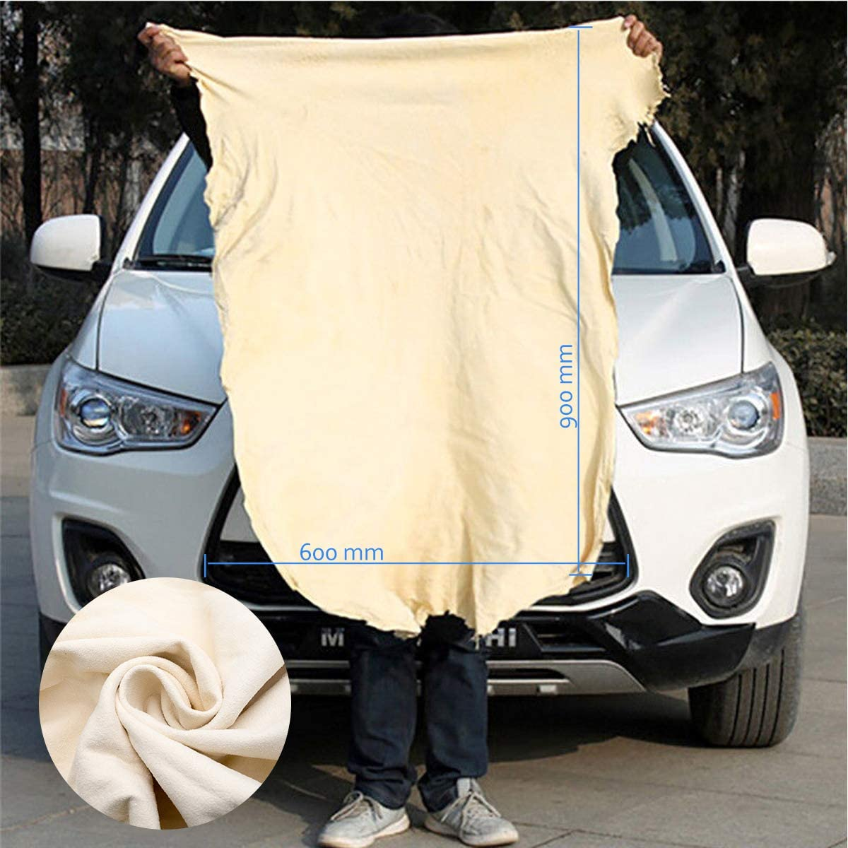 Car Drying Chamois Maso 23.6x35.4 Large Natural Leather Car Cleaning Cloth Towel Washing Pack of 1