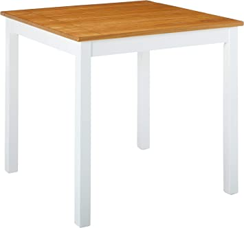 Zinus Becky Farmhouse Square Wood Dining Table - Remarkable Sturdiness