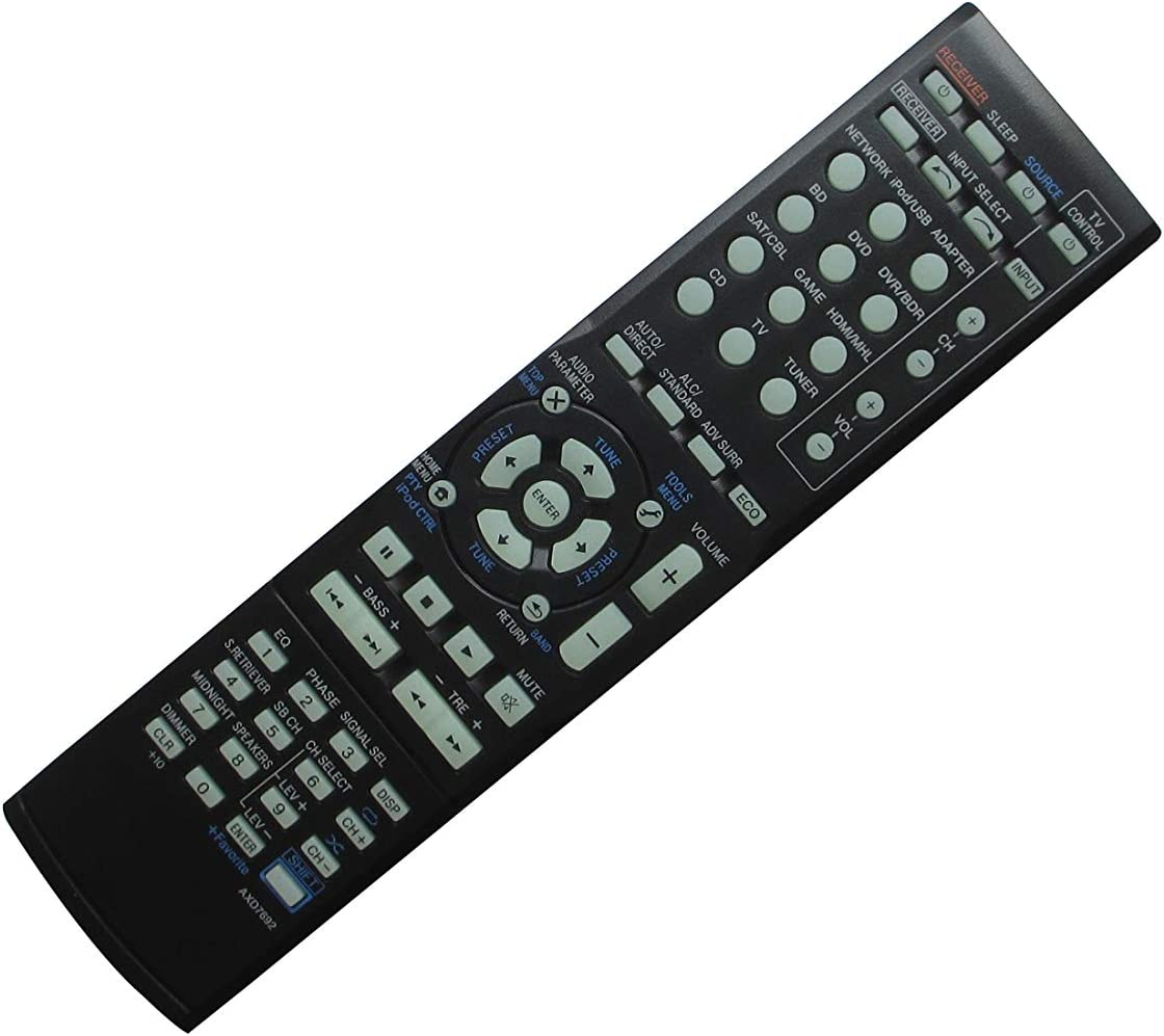 Universal Replacement Remote Control for Pioneer VSX-9140TXH AXD7525 VSX-1021 VSX-1021-K 7.1-Channel Home Theater AV A/V Receiver System