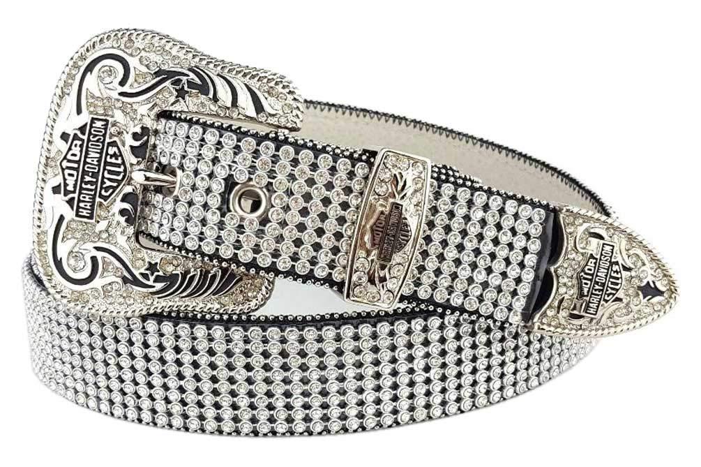 Harley-Davidson Women's Embellished Crystal Saturday Night Belt HDWBT10044