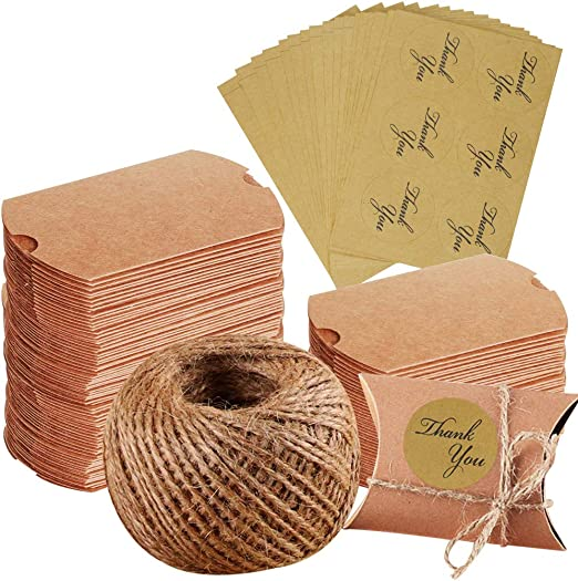 100 cajas de papel kraft para regalos de Navidad, bodas, fiestas ...