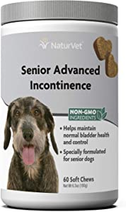 NaturVet – Senior Advanced Incontinence – Helps Maintain Bladder Health & Control – 60 Soft Chews