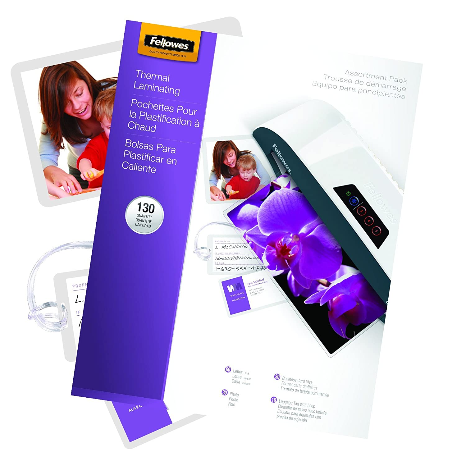 fellowes laminating pouch thermal starter kit 130