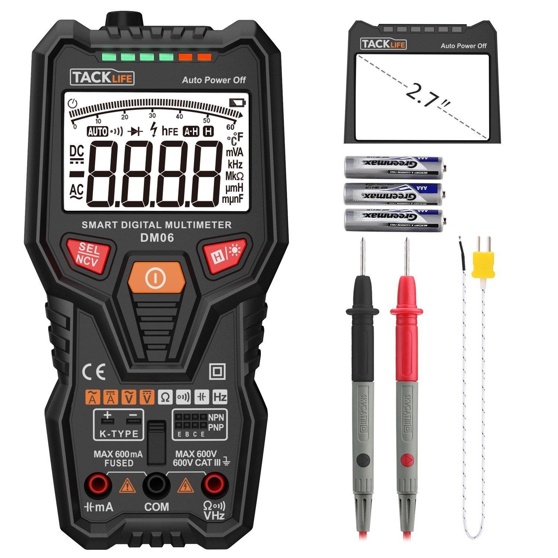 Tacklife-DM06-Multimetro digital completo, inteligente y automatico