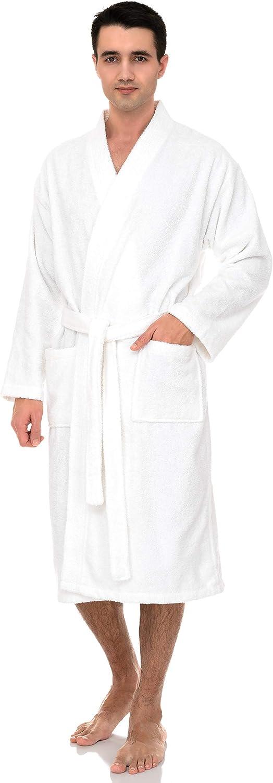 TowelSelections Men's Luxury Robe, Turkish Cotton Terry Kimono Soft Bathrobe at  Men's Clothing store