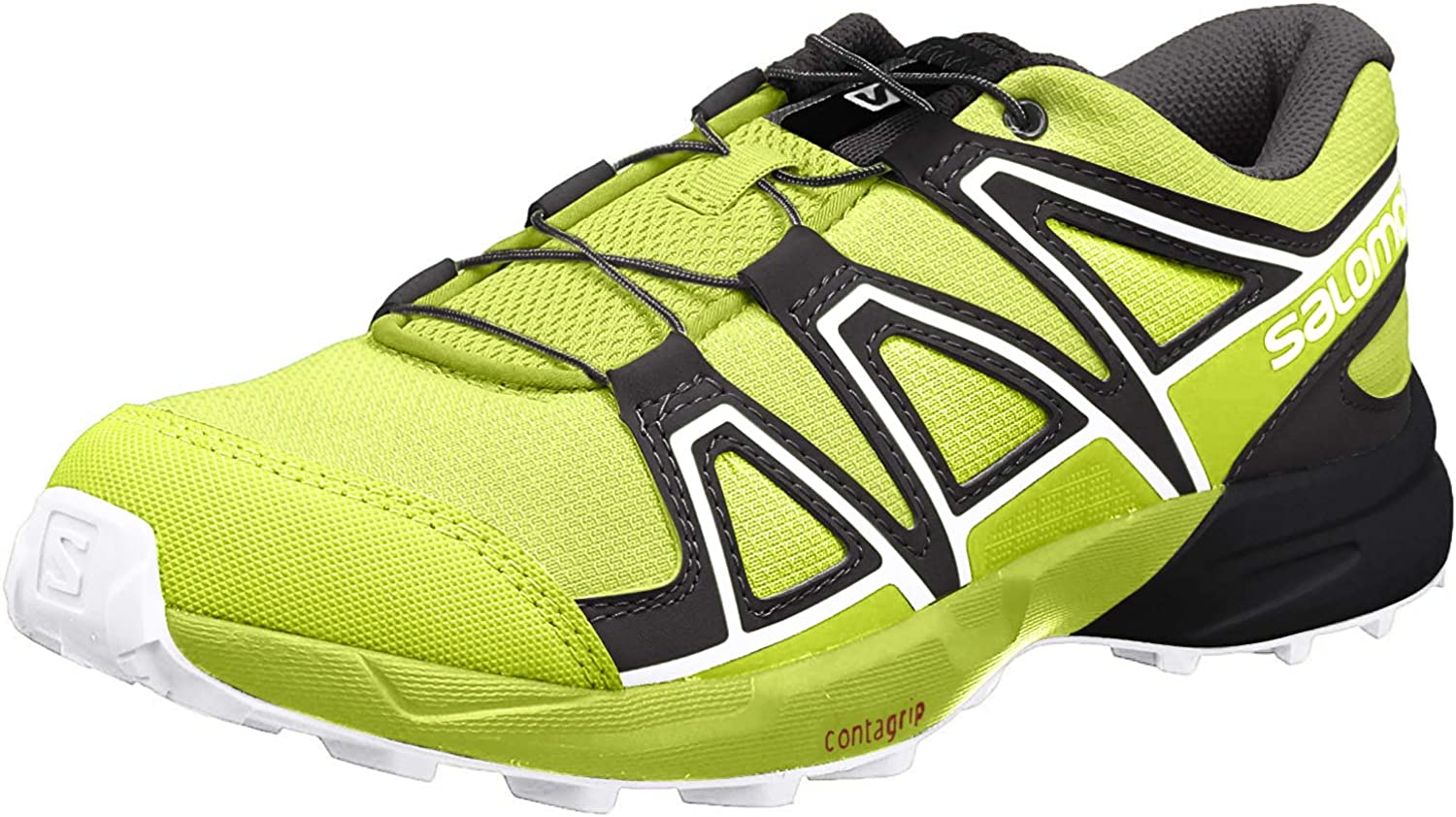 Salomon Speedcross J, Zapatillas de Trail Running Unisex Niños, Verde (Acid Lime/Lime Green/White), 38 EU: Amazon.es: Zapatos y complementos