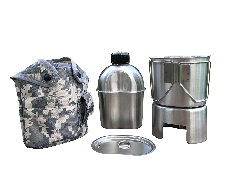 【在庫処分】 Jolmo Lander B0763J1JFP G.I.Style 水筒キット 水筒 1.2L 水筒カップ 水筒カップ 水筒 0.8L カップ蓋 スタンド/ストーブ カバー5点セット B0763J1JFP, 八郎潟「佐市の佃煮」千田佐市商店:607f9d64 --- a0267596.xsph.ru