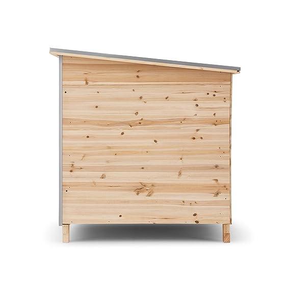 oneConcept Schloss Wuff Caseta para perros de madera XXL (160 x 105 x 100 cm, aislamiento con 4 cm de poliestireno, fácil montaje, Tejado de asfalto anti ...
