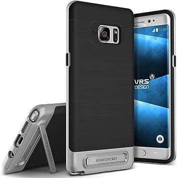 Galaxy Note 7 Funda, VRS diseño [Alta Pro satén de Escudo] [Plata] – [Grado Militar protección] [función Atril] para Samsung Note 7: Amazon.es: Electrónica