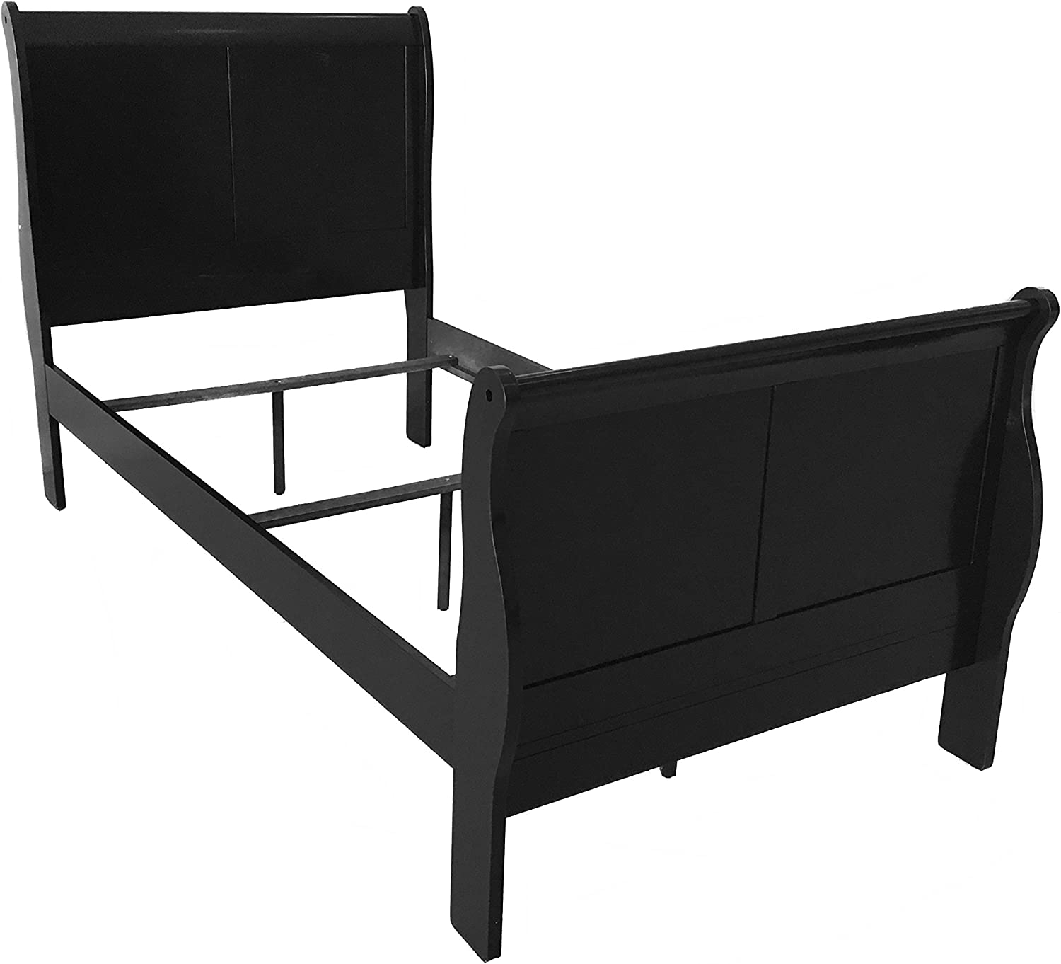 ACME 19510T-SP Louis Philippe III Bed, Twin, Black Finish