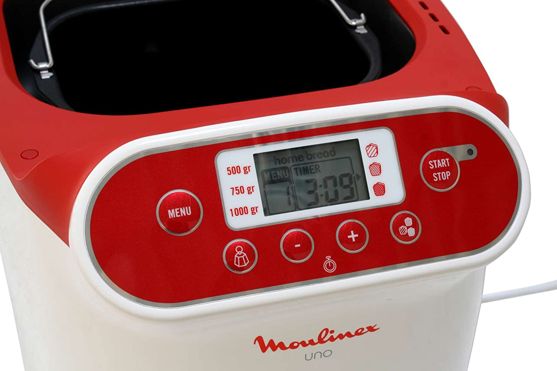 Panificadora MOULINEX Uno blanco 700 Watt pan Brotbackmas ...