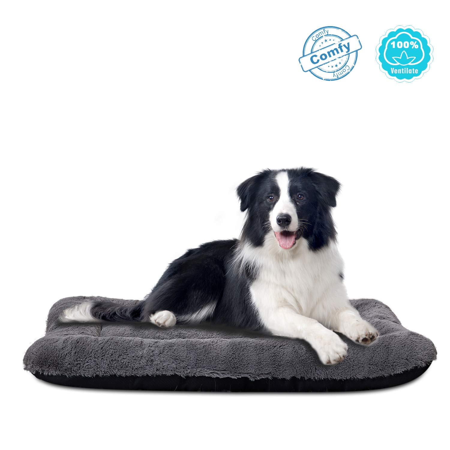 ANWA Dog Bed Large Size Dogs, Washable Dog Crate Bed Cushion, Dog Crate Pad Large Dogs 36 INCH by ANWA