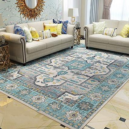 Amazon.com: CJW Retro Light Luxury Living Room Carpet Home ...