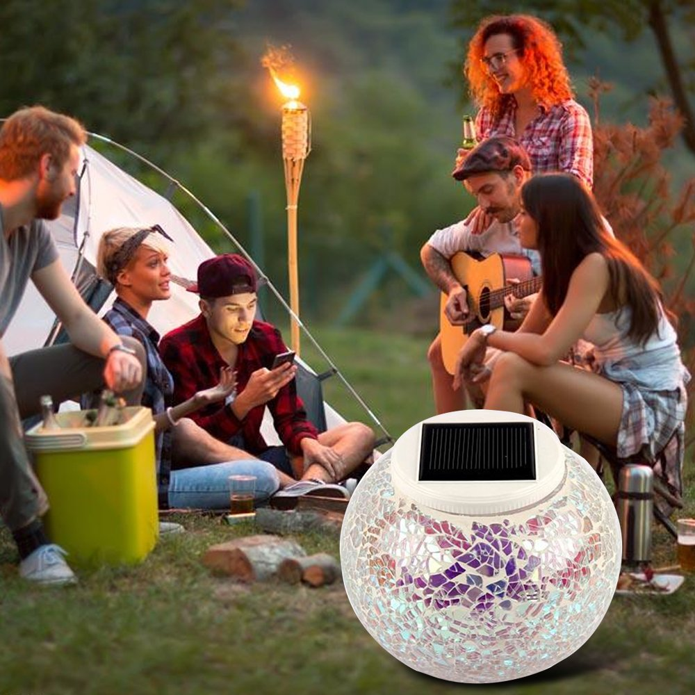 Decorative Night Lights for Kids,MeiLiio Light Control Waterproof Colour Changing LED Desk Table Night Lamp Lantern for Outdoor Patio Bedroom Wedding Party Yard Lawn Landscape Home-05